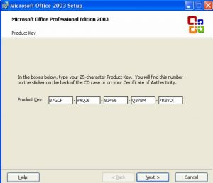 microsoft excel product key 2003 free