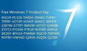 windows 7 free product key 2019