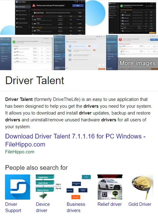 driver talent download for windows 7