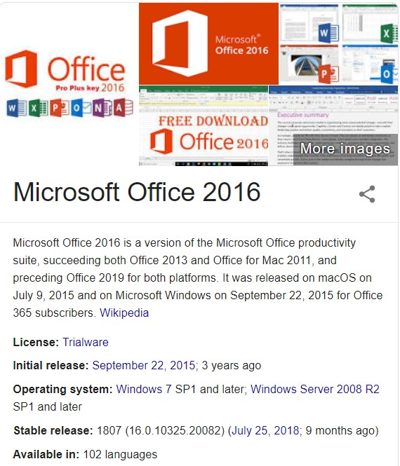Microsoft Office 2016 Crack Product Key Windows Mac Os X Productkeyfree