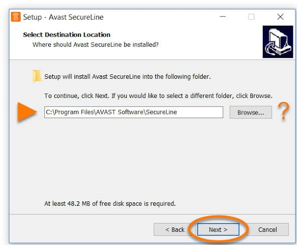 where to place android avast secureline vpn license key file